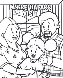 Coloring Page - children's office visit