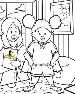 Coloring Page - blood draw for children