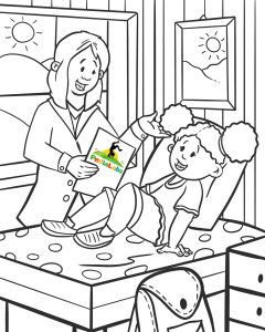 Coloring Page - blood draw for kids